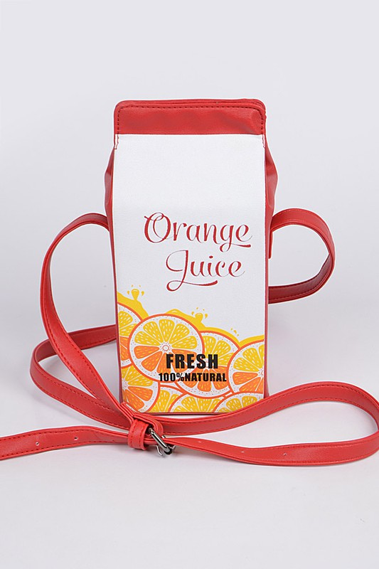 ORANGE JUICE BOX Purse