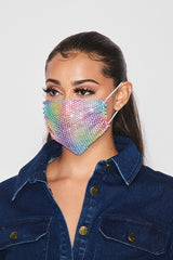 BLING MASK COVER Rainbow