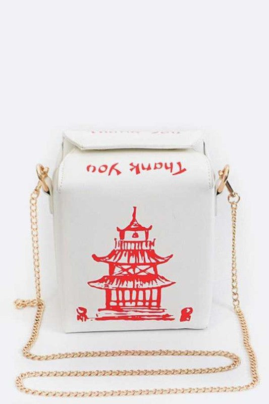 TAKE OUT BOX CLUTCH White