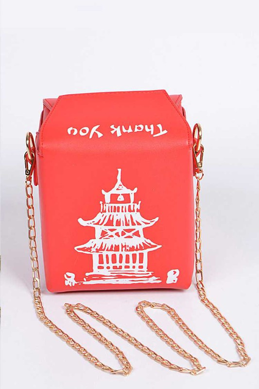 TAKE OUT BOX CLUTCH Red White