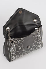 BANDANA PRINT CROSS BODY Black