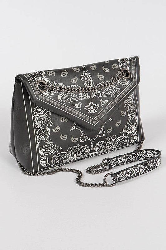 BANDANA PRINT CROSS BODY Red