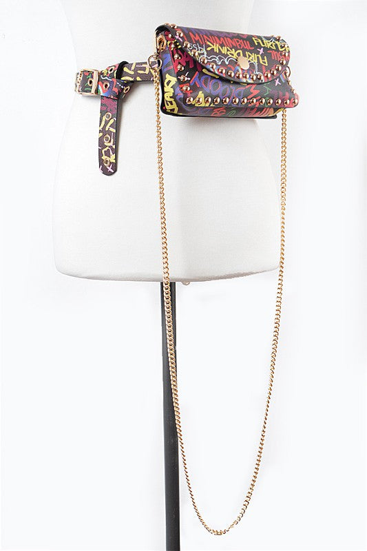 BK GRAFFITI FANNY CROSS BODY