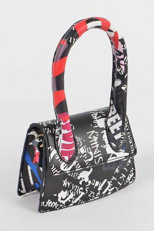 Single Handle Mini Graffiti Bag