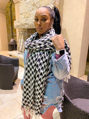 Houndstooth Pashmina Scarf