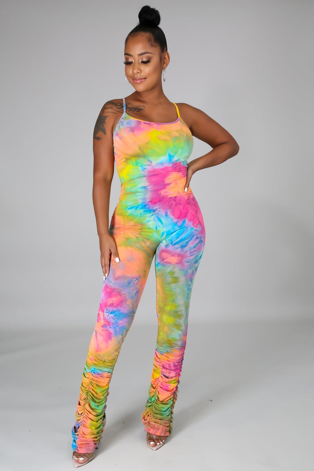Flex Jumpsuit Rainbow Tye Dye