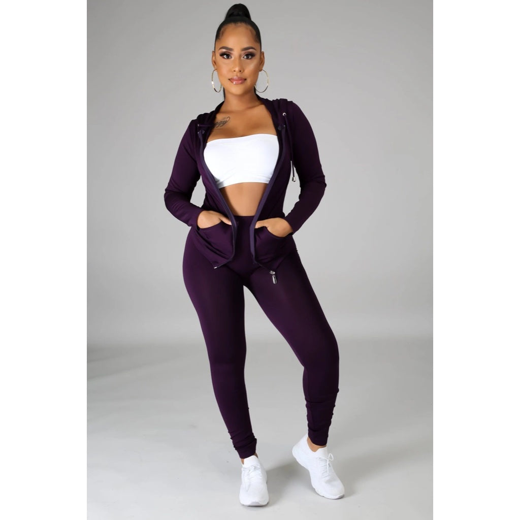 Ola Seamless 2 Piece Set Purple