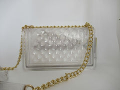 CLEAR QUILT JELLY PURSE