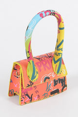 GRAFFITI RAINBOW SINGLE HANDLE MINI BAG