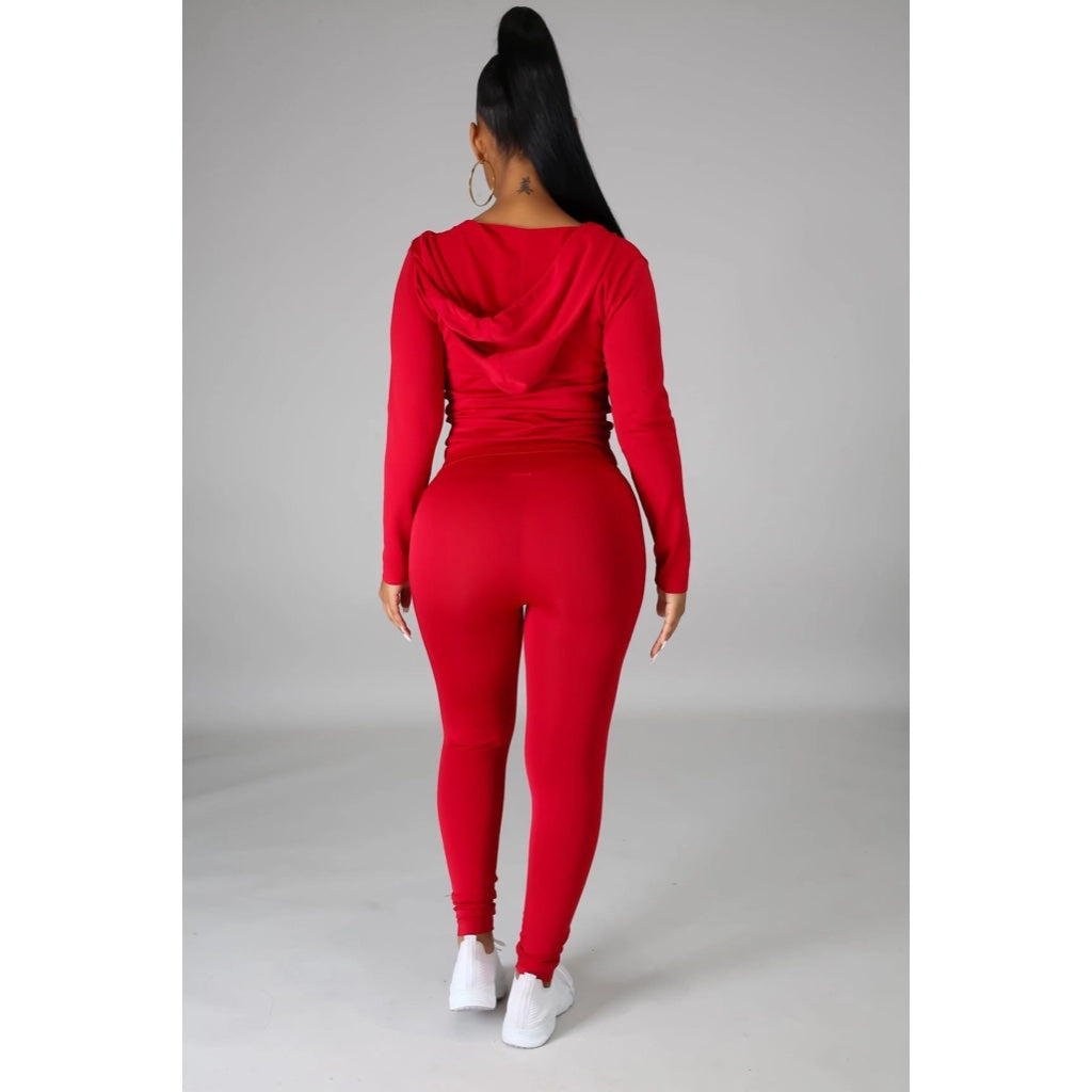 Ola Seamless 2 Piece Set Red
