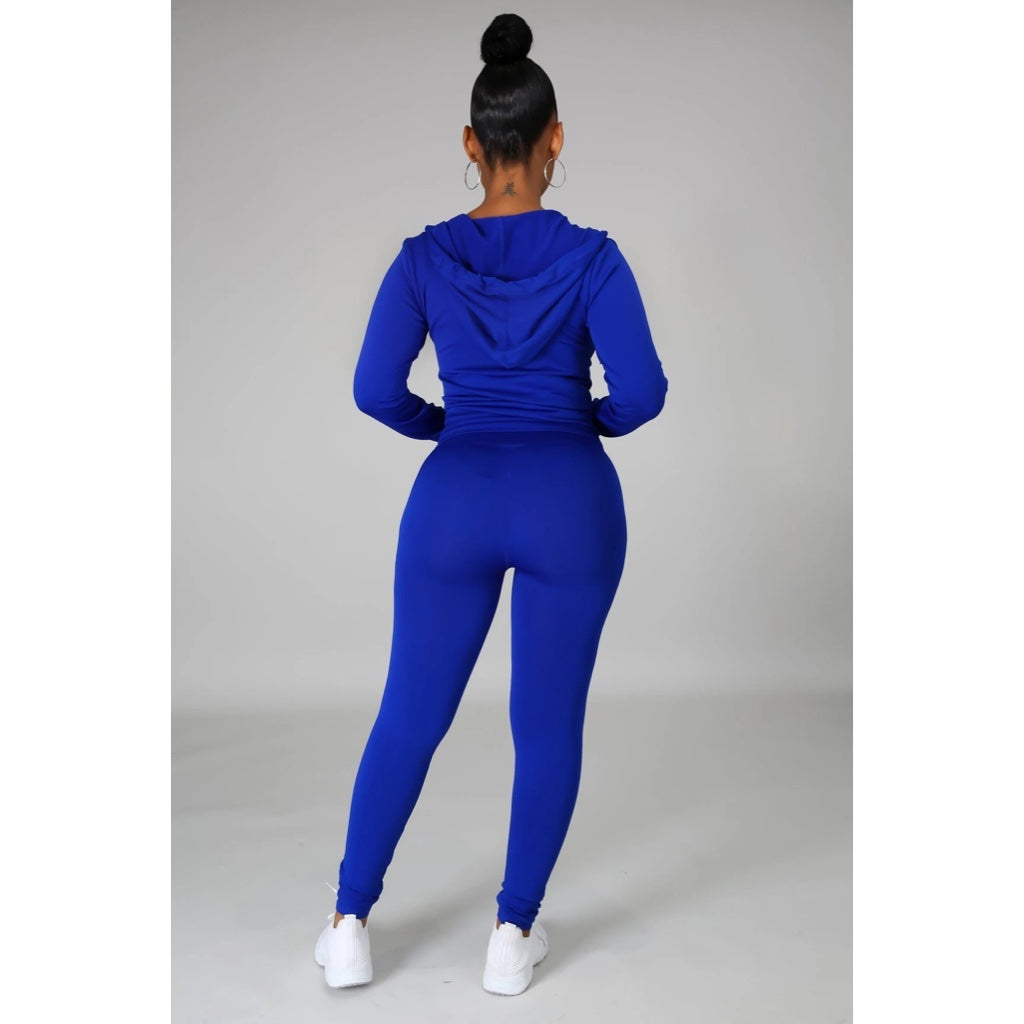 Ola Seamless 2 Piece Set Royal Blue