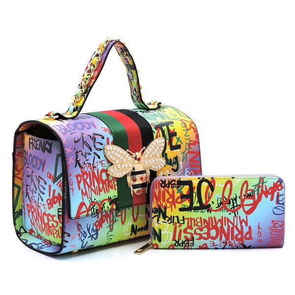 Queen Graffiti 2 in 1 Bag Purple