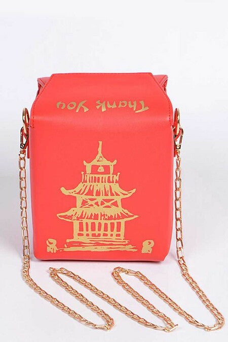 TAKE OUT BOX CLUTCH Red Gold