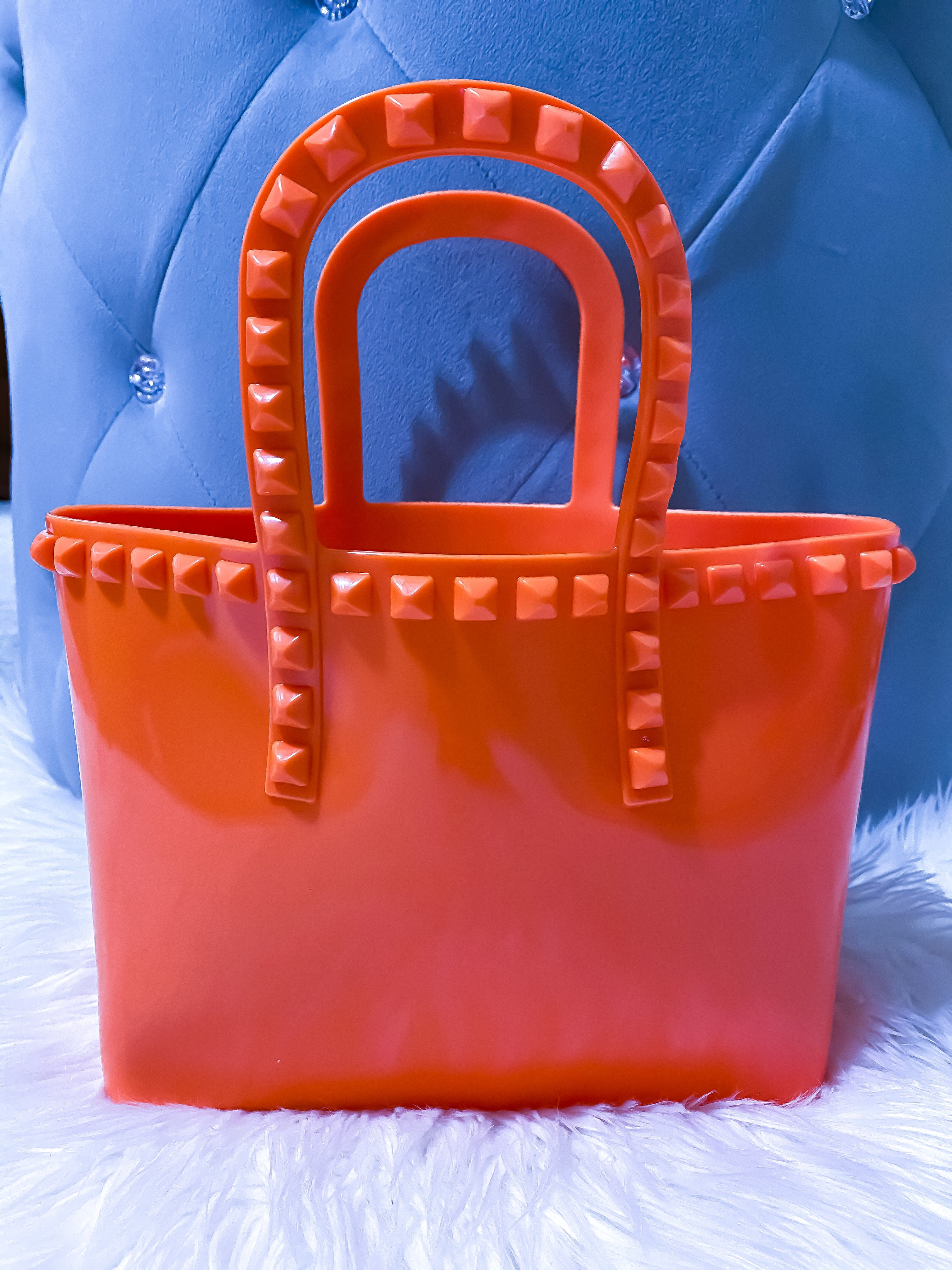 Mini Jelly Tote Orange