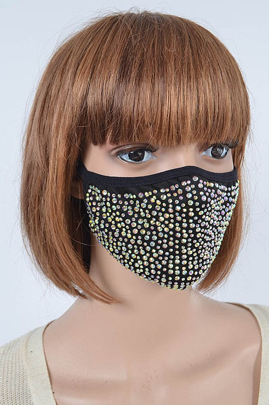 AB RHINESTONE FACE COVER