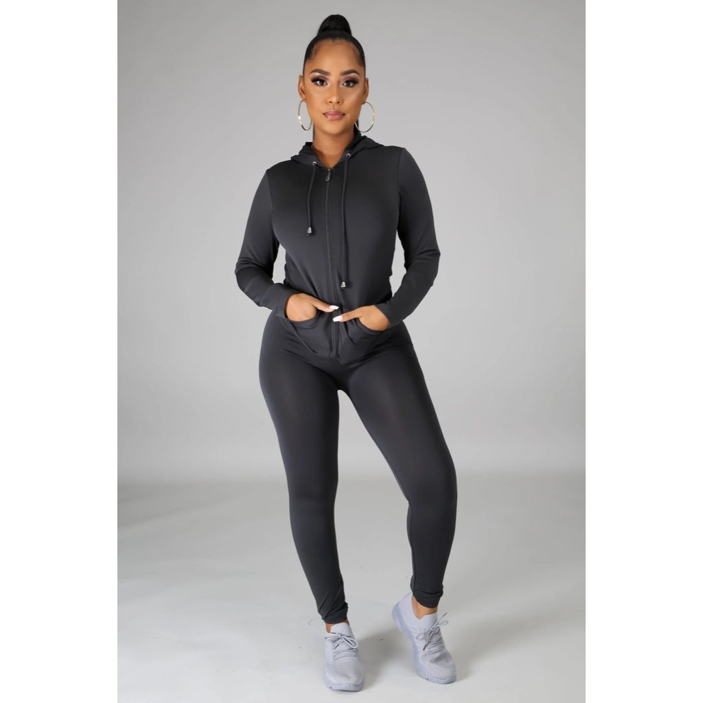 Ola Seamless 2 Piece Set Charcoal