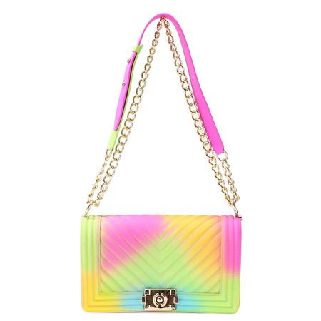 CHEVRON JELLY PURSE RAINBOW