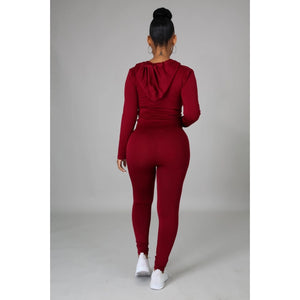 Ola Seamless 2 Piece Set Burgundy