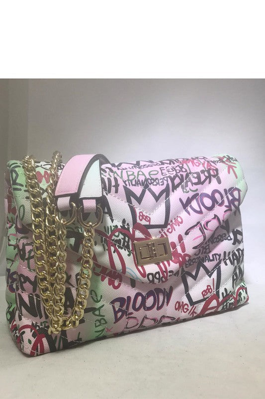 FAB GRAFFITI BAG PINK