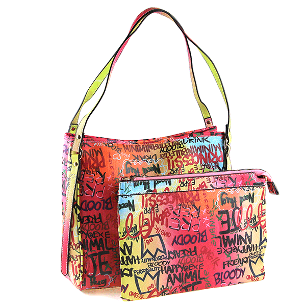 2 IN 1 GRAFFITI RAINBOW Tote