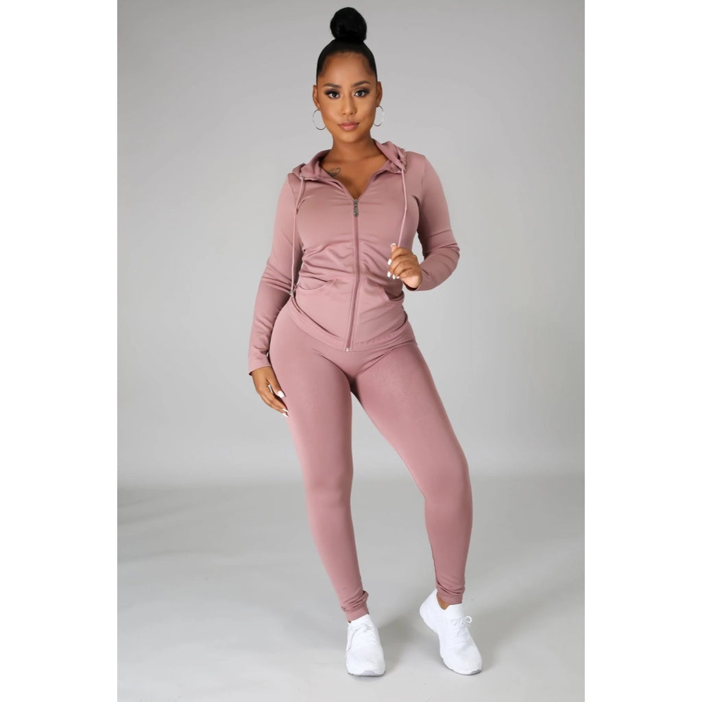 Ola Seamless 2 Piece Set Mauve