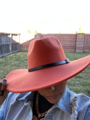 Rust Red Fedora W