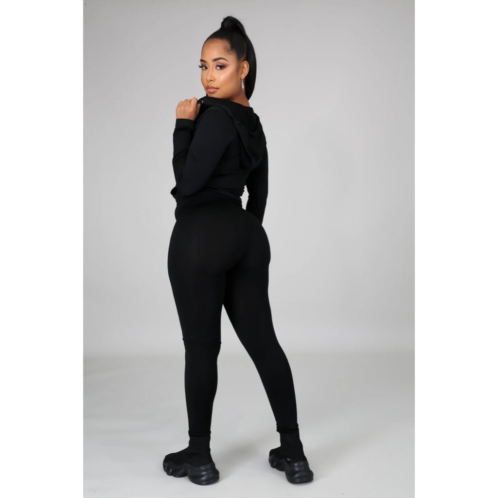Ola Seamless 2 Piece Set Black