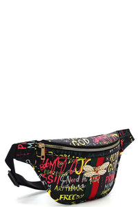 Graffiti Fanny Black