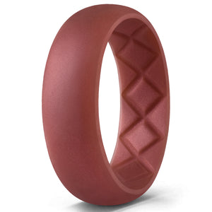 Egnaro Silicone Wedding Ring for Men Breathable Workout
