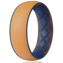 Load image into Gallery viewer, Egnaro Men Silicone Wedding Ring for Dual Color Breathable