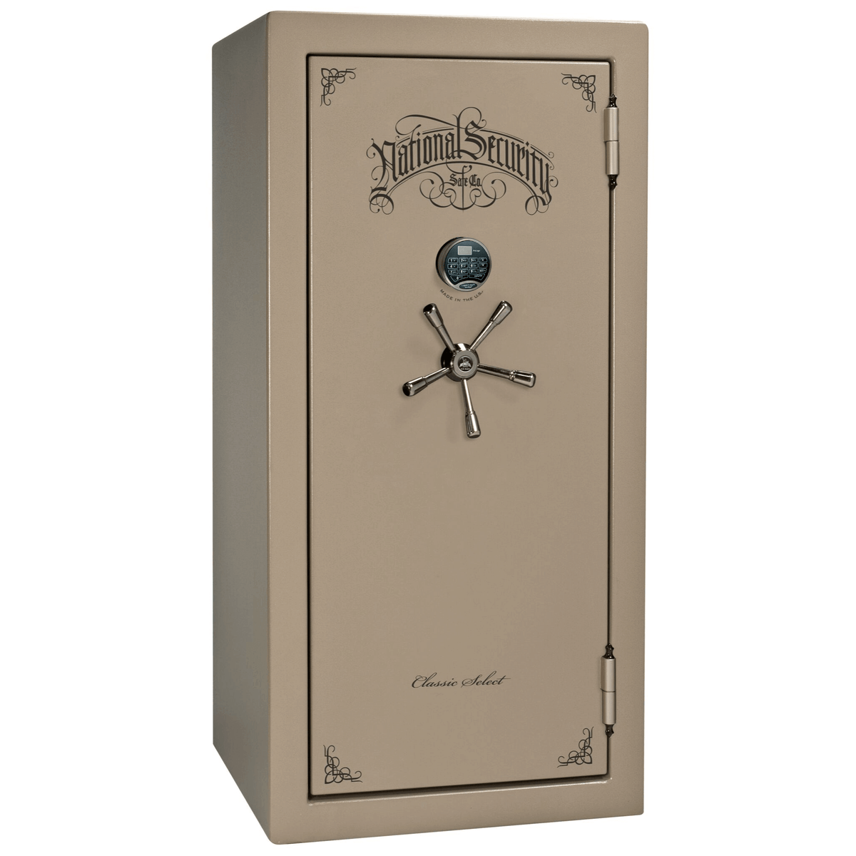 "Classic Select | 25 | Level 6 Security | 90 Minute Fire Protection | Champagne | Black Electronic Lock | 60.5""(H) x 30""(W) x 28.5""(D)"