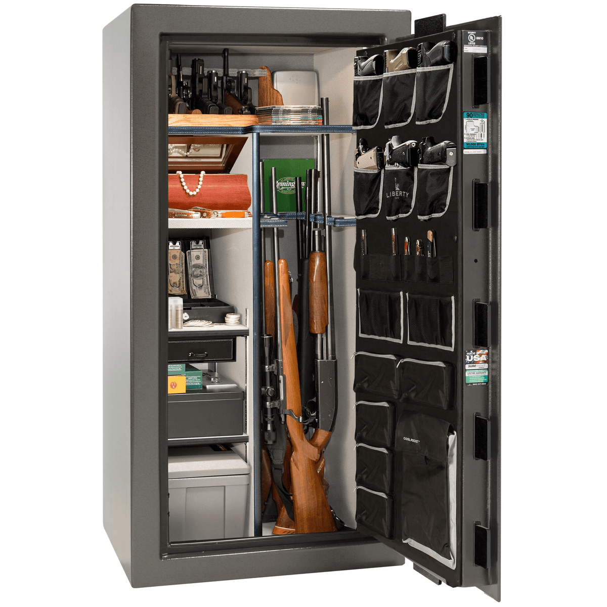 "Classic Select | 25 | Level 6 Security | 90 Minute Fire Protection | Gray | Black Mechanical Lock | 60.5""(H) x 30""(W) x 28.5""(D)"