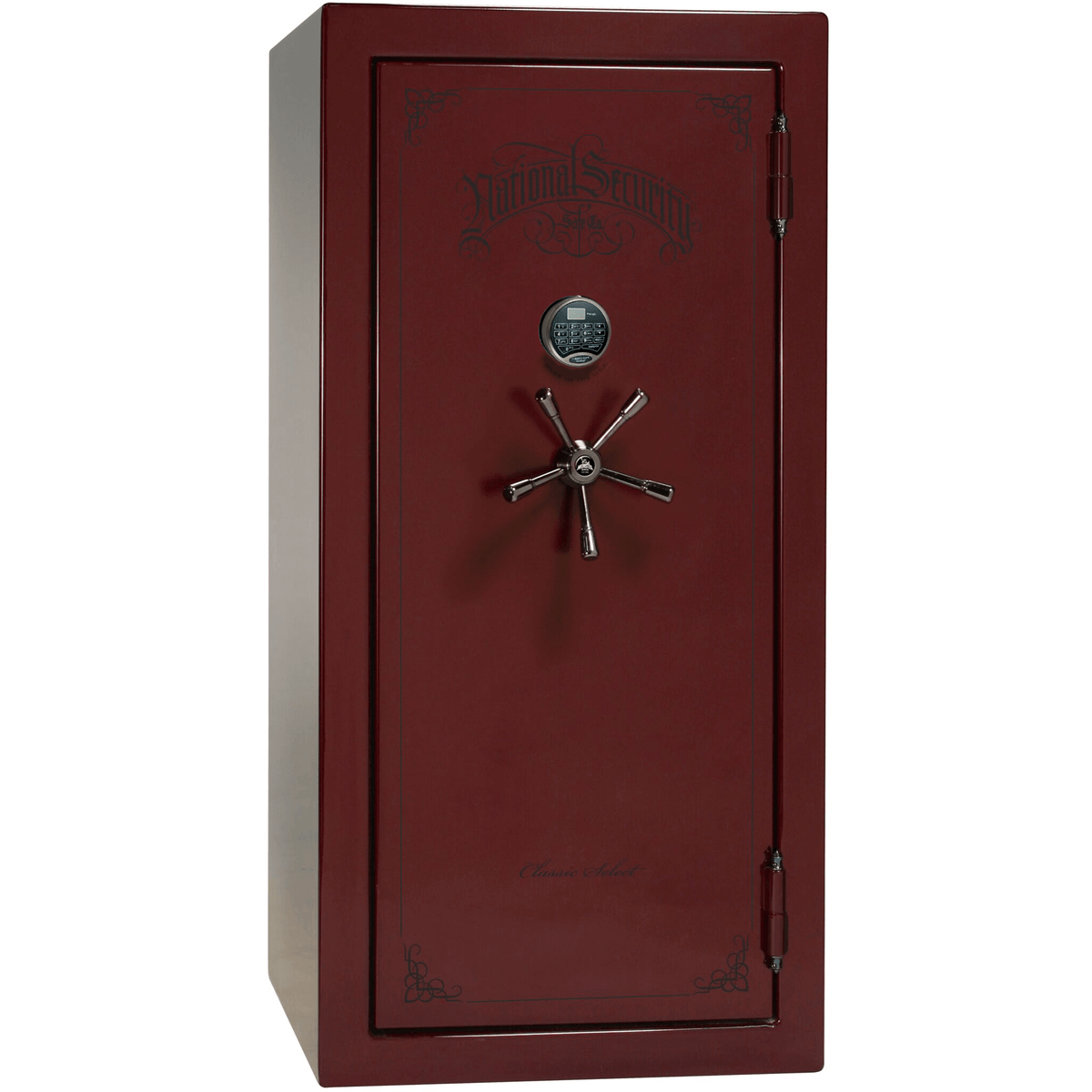 "Classic Select | 25 | Level 6 Security | 90 Minute Fire Protection | Burgundy Gloss | Black Electronic Lock | 60.5""(H) x 30""(W) x 28.5""(D)"