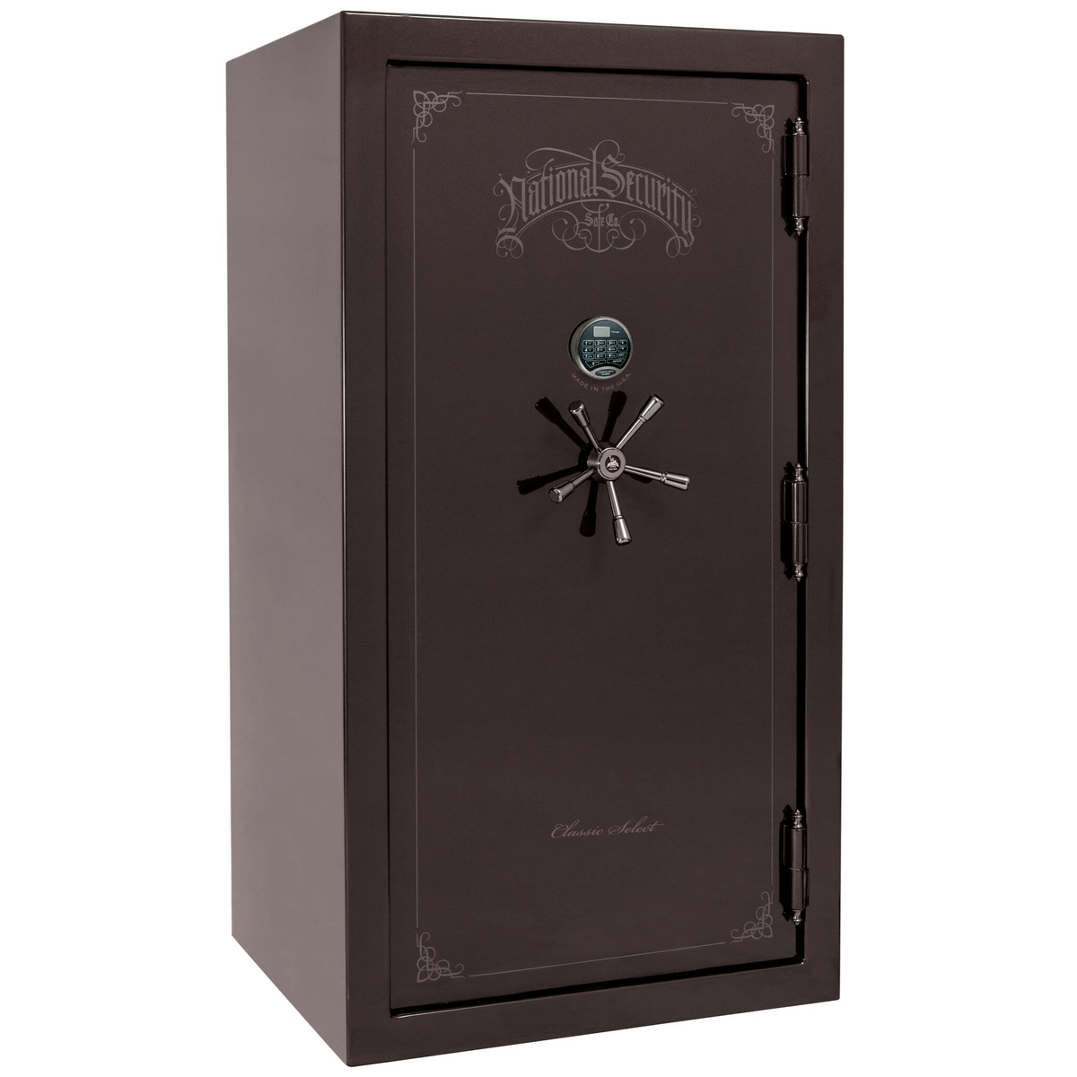 "Classic Select | 40 | Level 6 Security | 90 Minute Fire Protection | Black Cherry Gloss | Black Electronic Lock | 66.5""(H) x 36""(W) x 32""(D)"