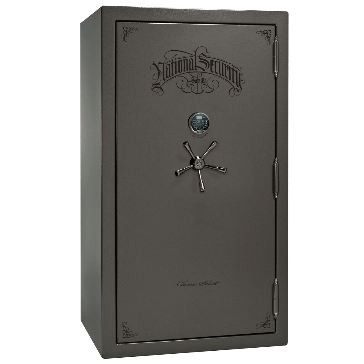 "Classic Select | 50 | Level 6 Security | 90 Minute Fire Protection | Gray | Black Electronic Lock | 72.5""(H) x 42""(W) x 32""(D)"