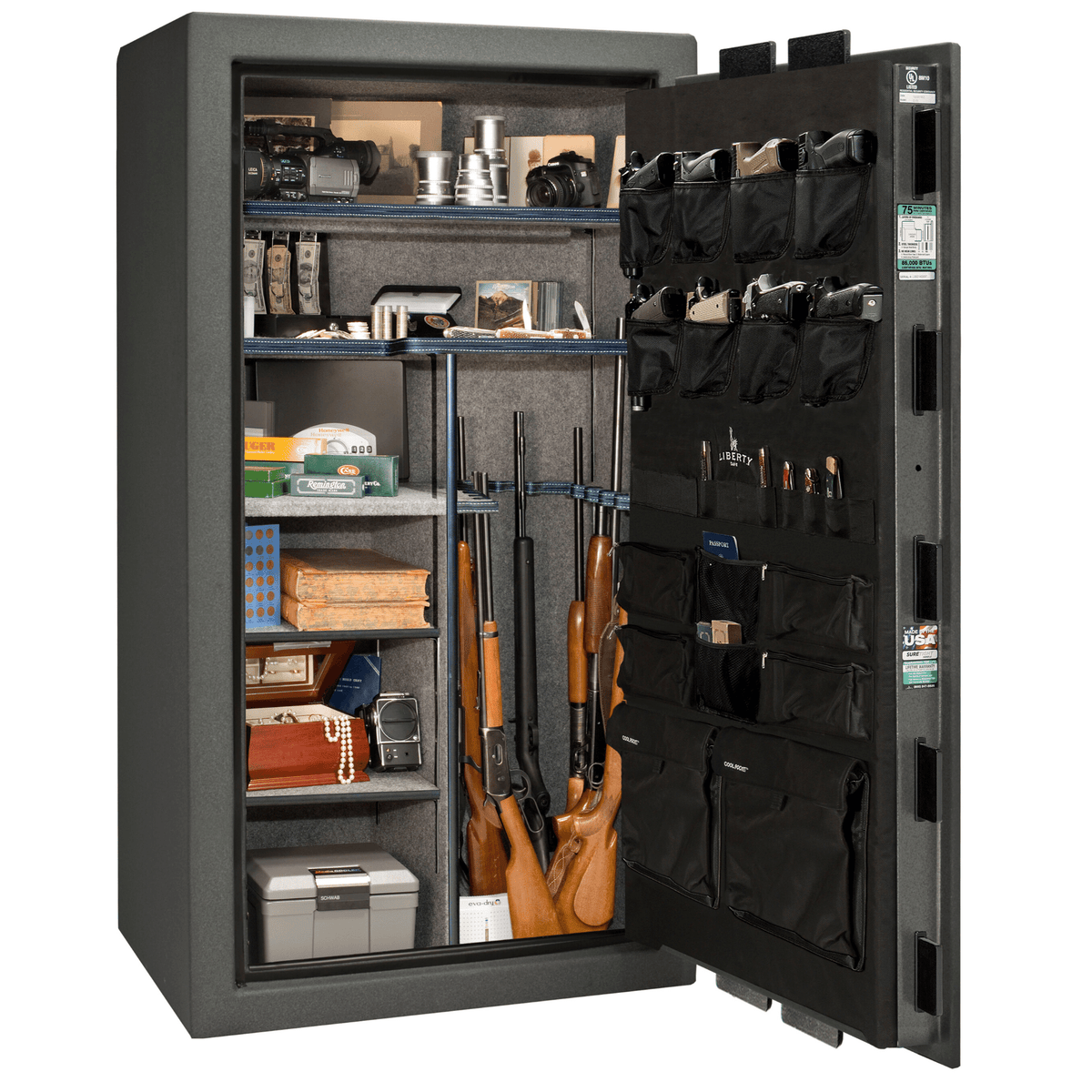 "Franklin | 40 | Level 4 Security | 90 Minute Fire Protection | Granite | Chrome Electronic Lock | 66.5""(H) x 36""(W) x 32""(D)"