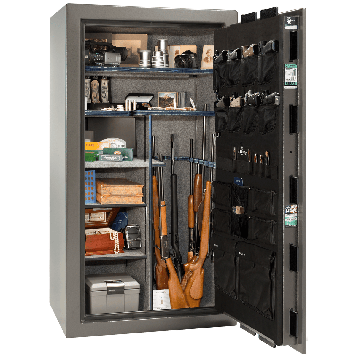 "Franklin | 40 | Level 4 Security | 90 Minute Fire Protection | Gray | Black Electronic Lock | 66.5""(H) x 36""(W) x 32""(D)"