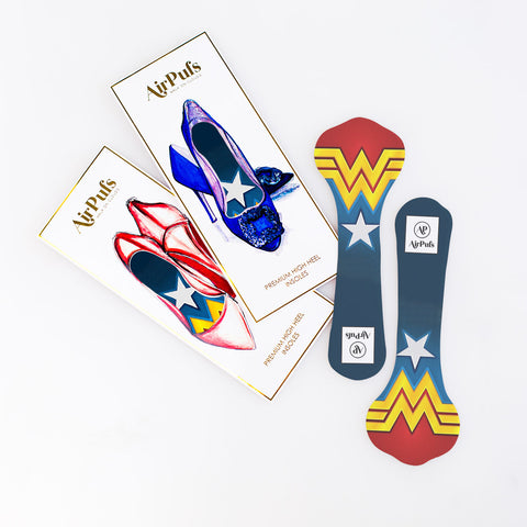 Airpufs high heel insoles package strap heels wonder woman