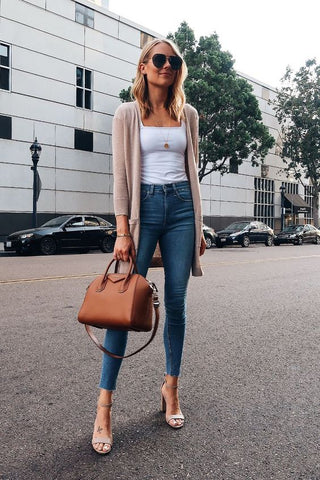 Fashion jackson Strap Heels with Jeans Casual Outfit
