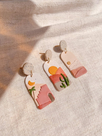 stocking stuffer ideas for women polymer clay earring set