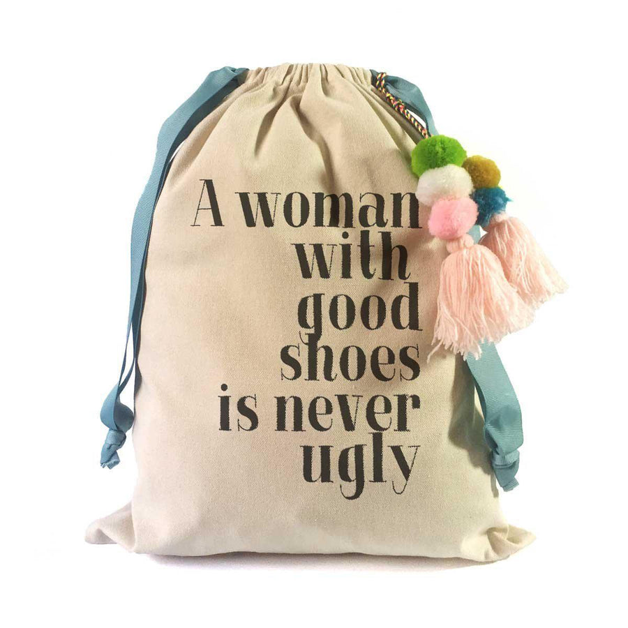 Shoe Quotes Travel Shoe Bag (Coco Chanel):