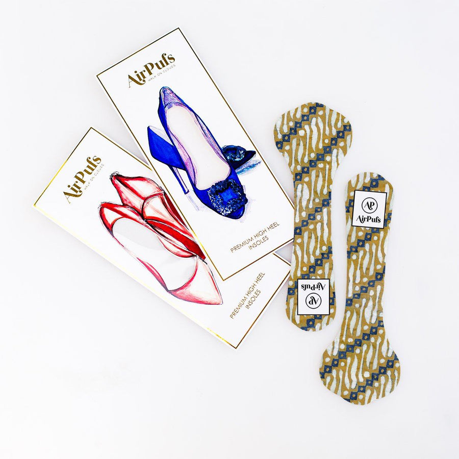 High Heel Insoles- Shoe Inserts- Airpufs-Batik 3: Solo