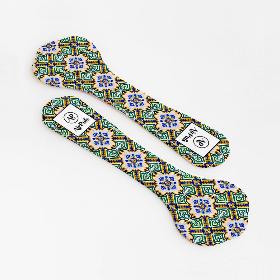 High Heel Insoles- Shoe Inserts- Airpufs-Peranakan Tile Series: Pagoda Street Airpufs