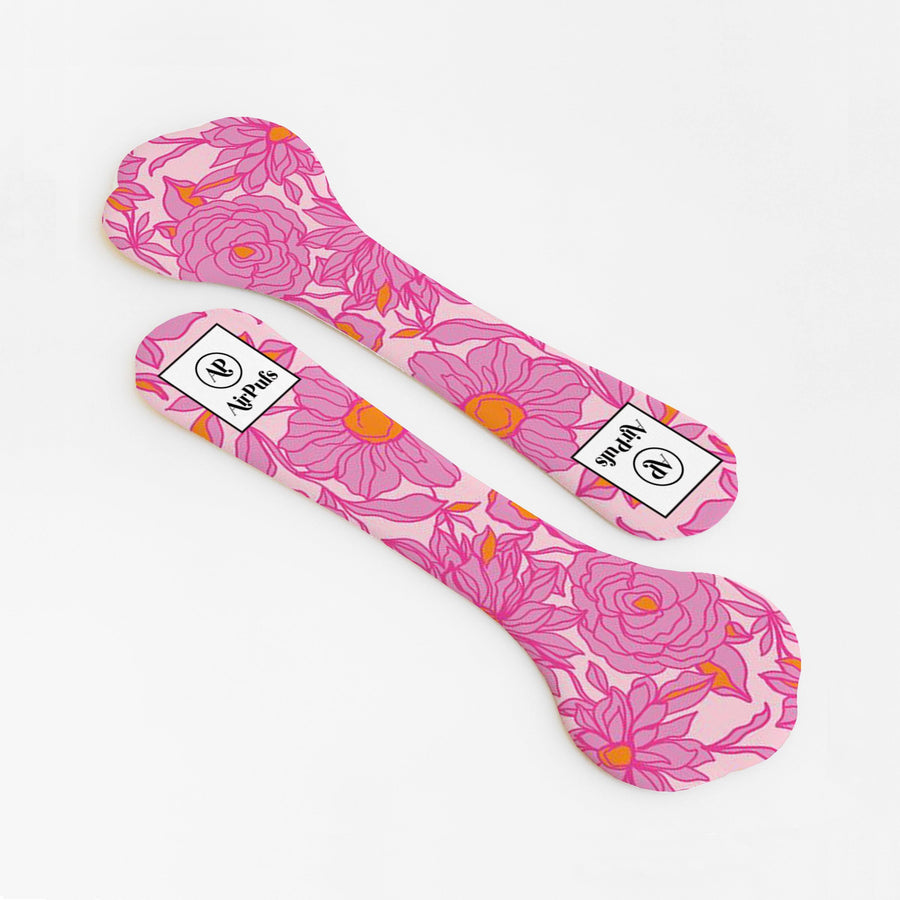 Pink Floral Print Bridesmaids Shoe Insoles for High Heels and Flats- Airpufs