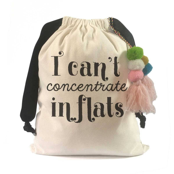 """I Can't Concentrate in Flats"" Victoria Beckham Shoe Bag"