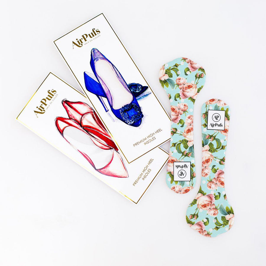 High Heel Insoles- Shoe Inserts- Airpufs-Something Blue