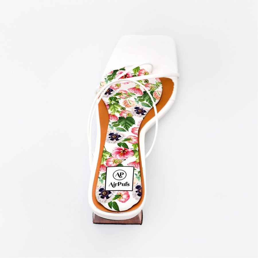 Blossom Bouquet Bridal Insole in single White Refina Pyo Strappy High Heels- Airpufs