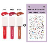 BEAUTITUDE High Shine Hydrating Long lasting Lip Gloss Lip Tint (Set of 3pcs + Decoration Sticker) 0.13oz, 4ml - SELF BEAUTY