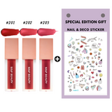 BEAUTITUDE Ultra Lightweight Sheer Matte Liquid Lipstick(Set of 3pcs+Decoration Sticker) 0.13oz, 4ml - SELF BEAUTY