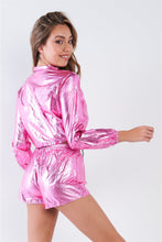 Load image into Gallery viewer, Metallic Two Piece Set in Pink